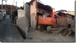 「空につながる家」~解体工事中~